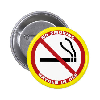 No Smoking Products 2 Inch Round Button