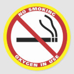 No Smoking Products Classic Round Sticker