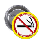 No Smoking Products Pinback Buttons