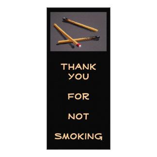 NO SMOKING: RACK CARD: MATCHES