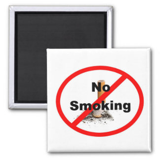 No Smoking Sign 2 Inch Square Magnet