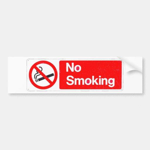 No Smoking Sign Car Bumper Sticker