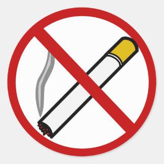 No Smoking Sign Cigarette Tobacco Symbol Round Stickers
