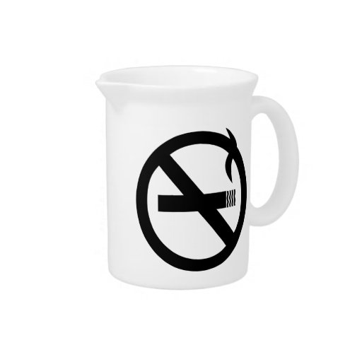 No Smoking Sign Drink Pitchers