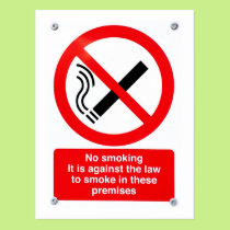 No smoking sign postcard