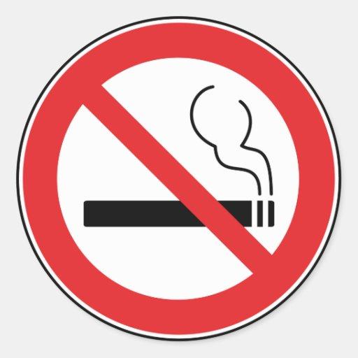 No Smoking Sign Sticker