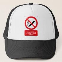 No smoking sign trucker hat
