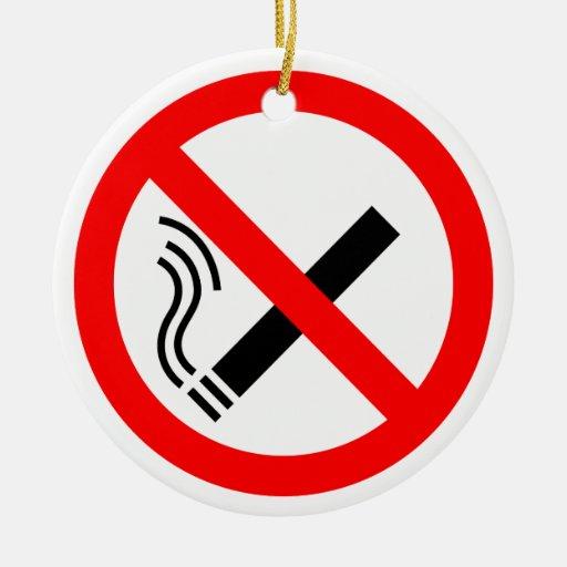 NO Smoking Sign - UK Signage Christmas Ornament
