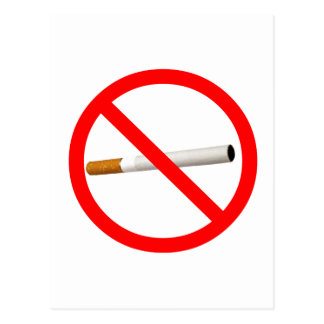 No Smoking Sign with Cigarette Postcard