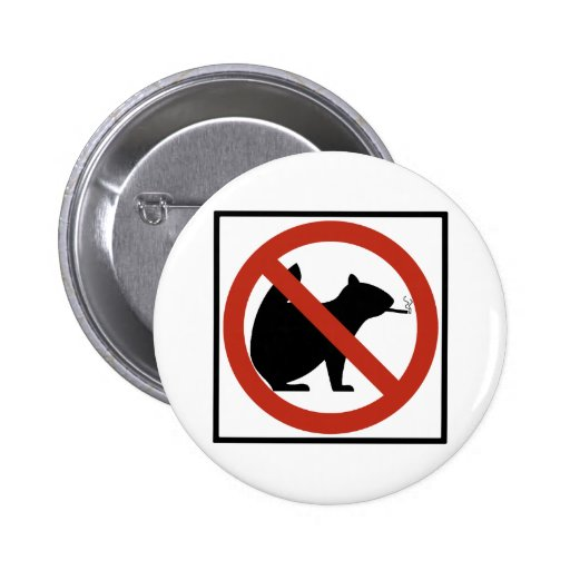 No Smoking Squirrels Allowed Highway Sign Pinback Buttons