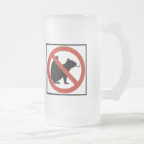 No Smoking Squirrels Allowed Highway Sign Frosted Glass Beer Mug