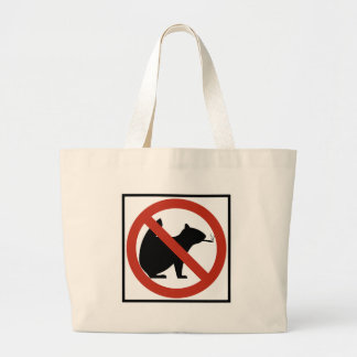 No Smoking Squirrels Allowed Highway Sign Jumbo Tote Bag