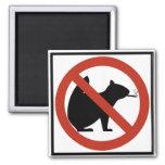 No Smoking Squirrels Allowed Highway Sign Refrigerator Magnet