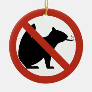 No Smoking Squirrels Allowed Highway Sign Christmas Tree Ornaments