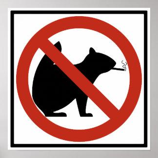 No Smoking Squirrels Allowed Highway Sign Print