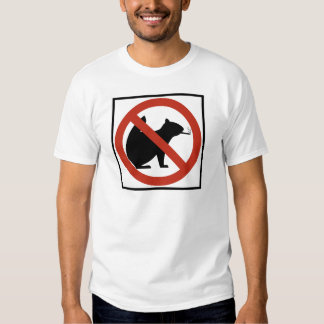 No Smoking Squirrels Allowed Highway Sign T-Shirt