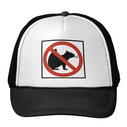 No Smoking Squirrels Allowed Highway Sign Trucker Hat