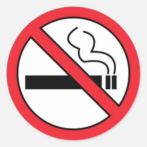 No smoking classic round sticker zazzle