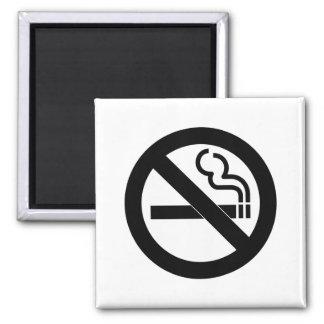 No Smoking Symbol 2 Inch Square Magnet