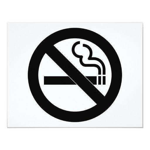 No Smoking Symbol 4.25x5.5 Paper Invitation Card
