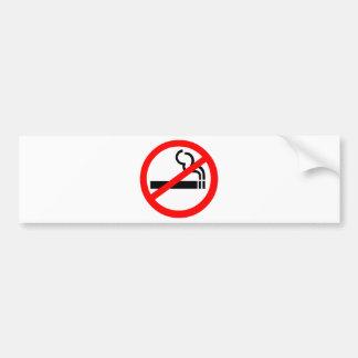No Smoking Symbol Car Bumper Sticker