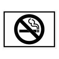 No Smoking Symbol Business Card