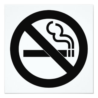 No Smoking Symbol Card