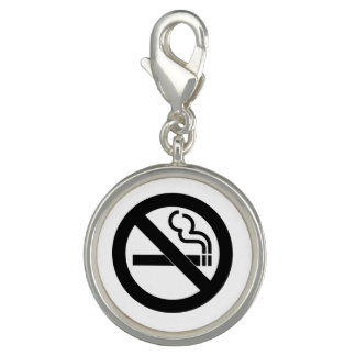 No Smoking Symbol Charm
