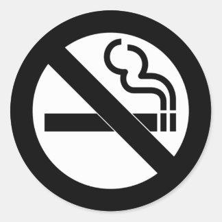 No Smoking Symbol Classic Round Sticker