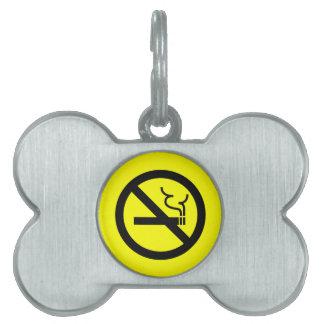 No Smoking Symbol Pet Name Tags