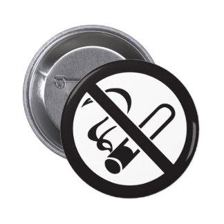 no smoking symbol pinback button