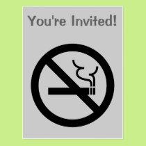 No Smoking Symbol Postcard