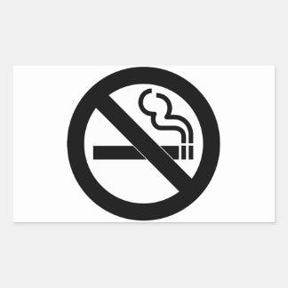 No Smoking Symbol Rectangular Sticker