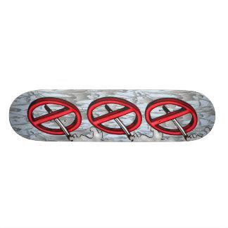 No Smoking Symbol Skate Deck