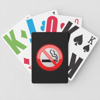 No Smoking Vision Impaired  Playing Cards