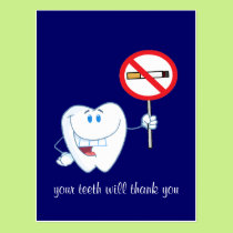 No Smoking - Your Teeth Will Thank You Postcard