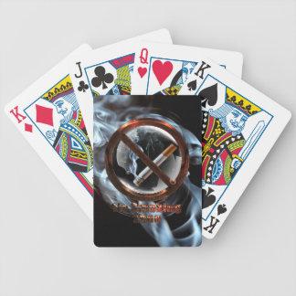No Smoking Zone Bicycle Playing Cards