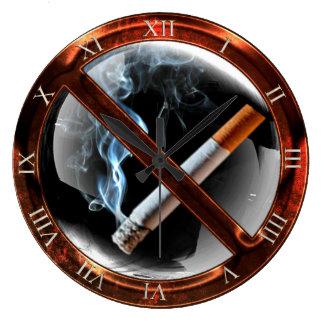 No Smoking Zone Large Clock