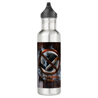 No Smoking Zone Water Bottle
