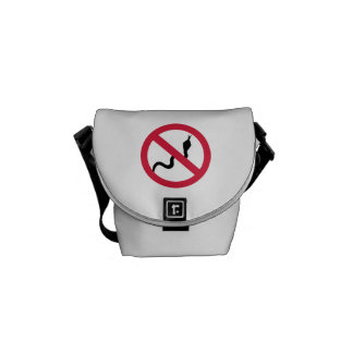 No snakes messenger bag