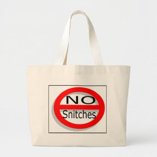 No Snitches Canvas Bags