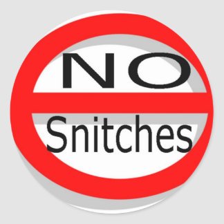 No Snitches Classic Round Sticker