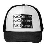 No Snitches, No Silence, No Slavery Mesh Hats