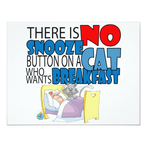 No Snooze Cat Bed Card