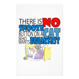 No Snooze Cat Bed Stationery