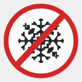 no-snow classic round sticker