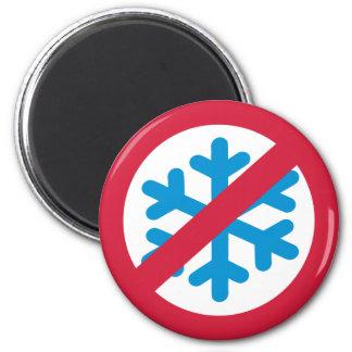 No snow winter fridge magnets