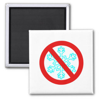 No Snowflake Magnet