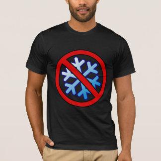 No Snowflakes - Snowflake in Red Slash Circle T-Shirt