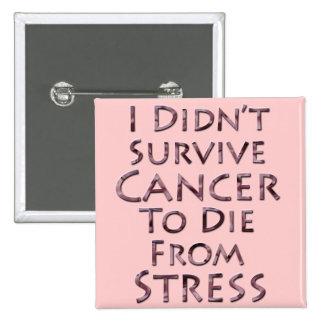 No sobreviví al cáncer para morir tensión rosada pins